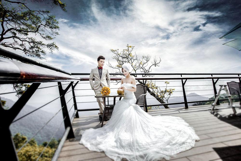 Địa điểm chụp ảnh cưới đẹp ở Tam Đảo - Quán gió Tam Đảo