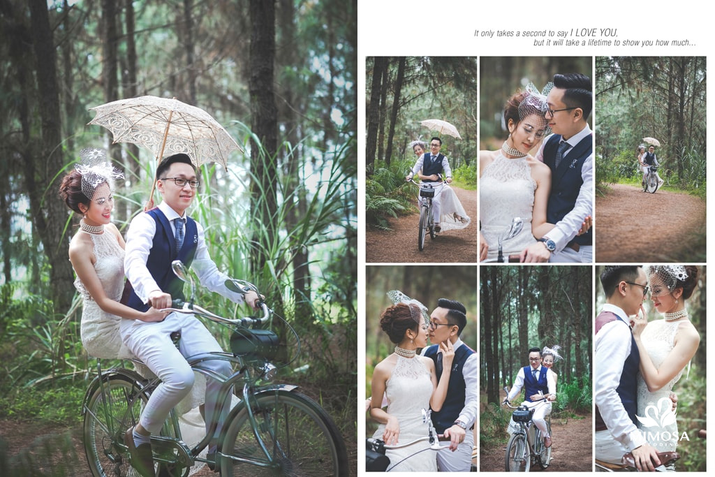 phong cach chup anh cuoi vintage