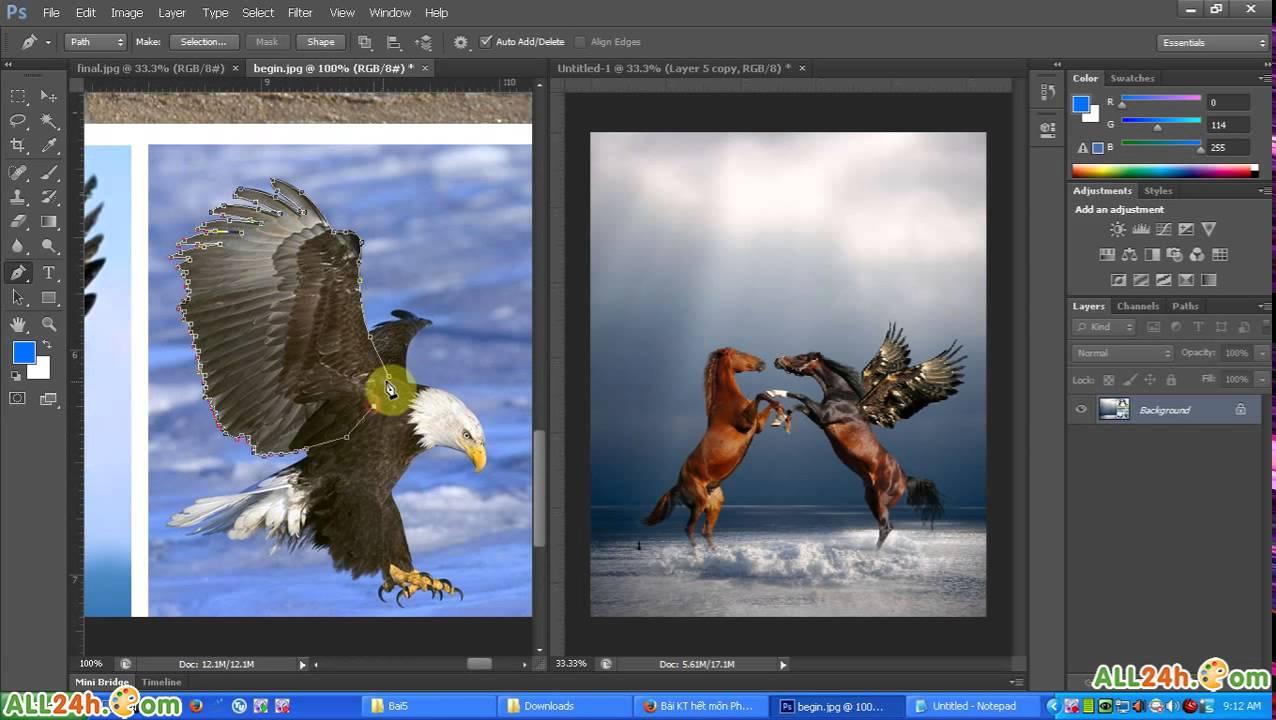Học Photoshop - Học cắt ghép ảnh nâng cao [những kĩ thuật hay] - YouTube