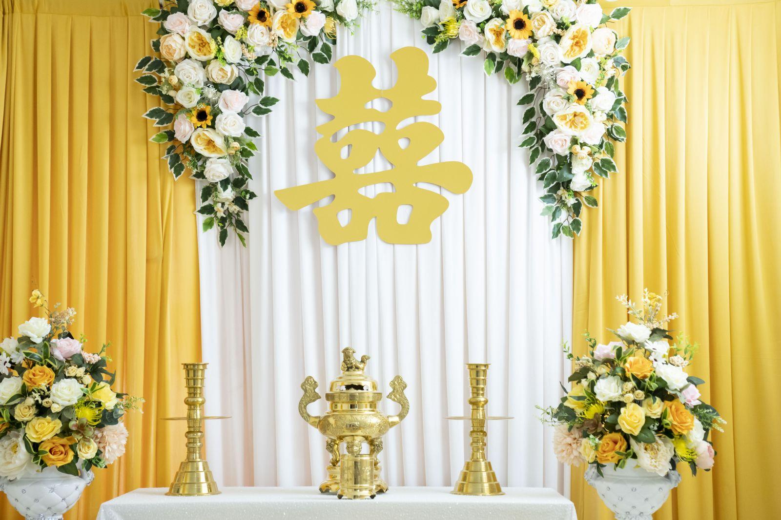 Trang trí gia tiên tại quận Tân Bình,| dịch vụ trang trí cưới hỏi , đính  hôn tphcm